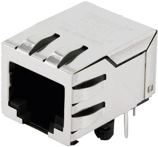 MagJack 10/100Base-TX 5 Übertrager Tab down Buchse, Einbau horizontal 10/100Base-TX Pole: 8P8C Vernickelt, Metall BEL S