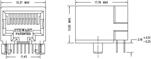 Modular-Einbaubuchse ungeschirmt Buchse, Einbau horizontal Pole: 10P10C SS64100-018F Schwarz BEL Stewart Connectors SS6