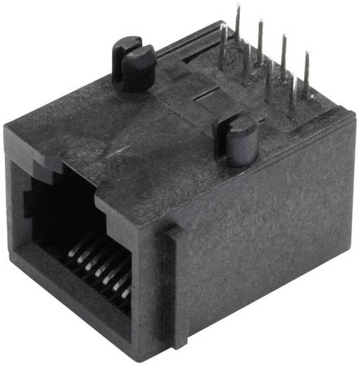 Modular-Einbaubuchse ungeschirmt mit Flansch Buchse, Einbau horizontal Pole: 8P8C SS64800-005F Schwarz BEL Stewart Conn