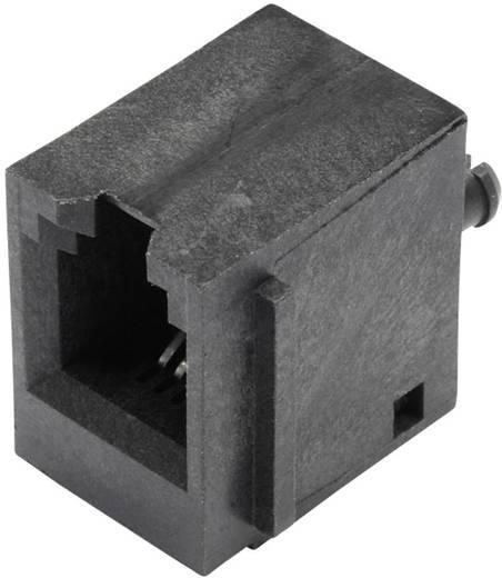 Modular-Einbaubuchse vertikal ungeschirmt mit Flansch Buchse, Einbau vertikal Pole: 4P4C SS65400-001F Schwarz BEL Stewa
