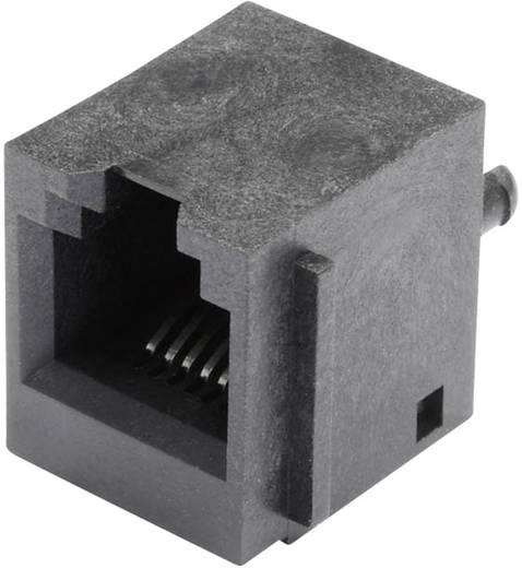 Modular-Einbaubuchse vertikal ungeschirmt mit Flansch Buchse, Einbau vertikal Pole: 6P6C SS65600-004F Schwarz BEL Stewa