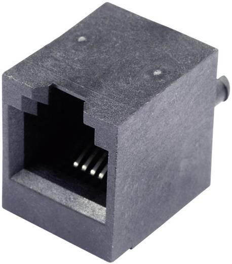 Modular-Einbaubuchse vertikal ungeschirmt Buchse, Einbau vertikal Pole: 6P4C SS65600-002F Schwarz BEL Stewart Connector