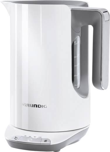 Grundig WK 7280w Wasserkocher schnurlos, Temperaturvorwahl Weiß, Hellgrau