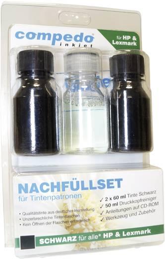 Tintenpatronen-Nachfüllset compedo MREFILL01 Passend für Geräte des Herstellers: HP, Lexmark Schwarz Tintenmenge gesamt: