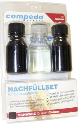 Image of Tintenpatronen-Nachfüllset compedo MREFILL08 Passend für Geräte des Herstellers: Canon Schwarz Tintenmenge gesamt: 120