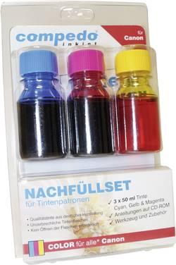 Image of Tintenpatronen-Nachfüllset compedo MREFILL07 Passend für Geräte des Herstellers: Canon Cyan, Magenta, Gelb Tintenmenge