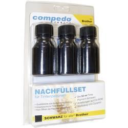 Image of compedo MREFILL03 Tintenpatronen-Nachfüllset Passend für Geräte des Herstellers: Brother Schwarz Tintenmenge gesamt: 150