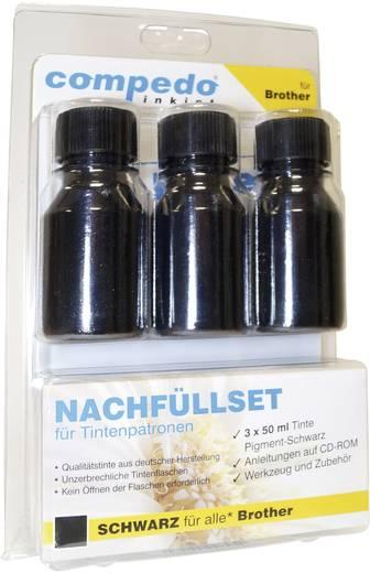 Tintenpatronen-Nachfüllset compedo MREFILL03 Passend für Geräte des Herstellers: Brother Schwarz Tintenmenge gesamt: 150