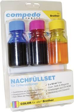 Image of Tintenpatronen-Nachfüllset compedo MREFILL09 Passend für Geräte des Herstellers: Brother Cyan, Magenta, Gelb Tintenmenge