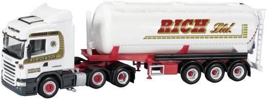 """Herpa 302975 H0 Scania R HL Silo-Sattelzug """"R.J. Rich & Sohn Ltd."""" (GB)"""