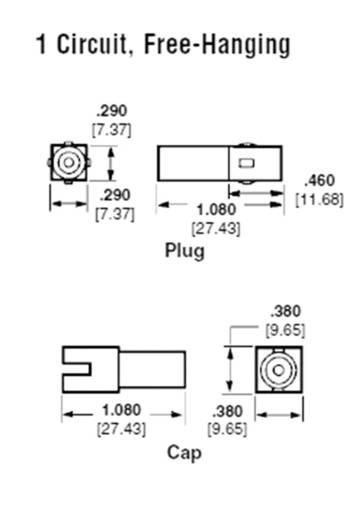 Stiftgehäuse-Kabel Universal-MATE-N-LOK Polzahl Gesamt 1 TE Connectivity 1-350867-0 1 St.