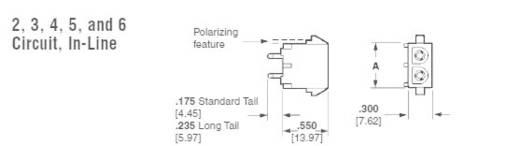 Buchsengehäuse-Platine Universal-MATE-N-LOK Polzahl Gesamt 2 TE Connectivity 350759-4 1 St.