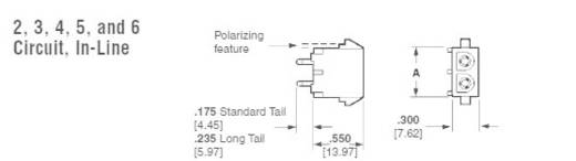 TE Connectivity Buchsengehäuse-Platine Universal-MATE-N-LOK Polzahl Gesamt 4 350826-4 1 St.