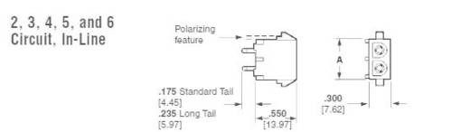 TE Connectivity Buchsengehäuse-Platine Universal-MATE-N-LOK Polzahl Gesamt 6 770262-3 1 St.