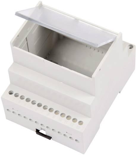 Hutschienen-Gehäuse mit transparentem Klappdeckel 70 x 90 x 68 ABS Licht-Grau (RAL 7035) MR4/A FA TR RAL7035 ABS 1 St.