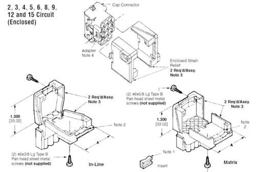 Zugentlastung für Universal MATE-N-LOK Pole: 6 UNIVERSAL MATE-N-LOK TE Connectivity Inhalt: 1 St.
