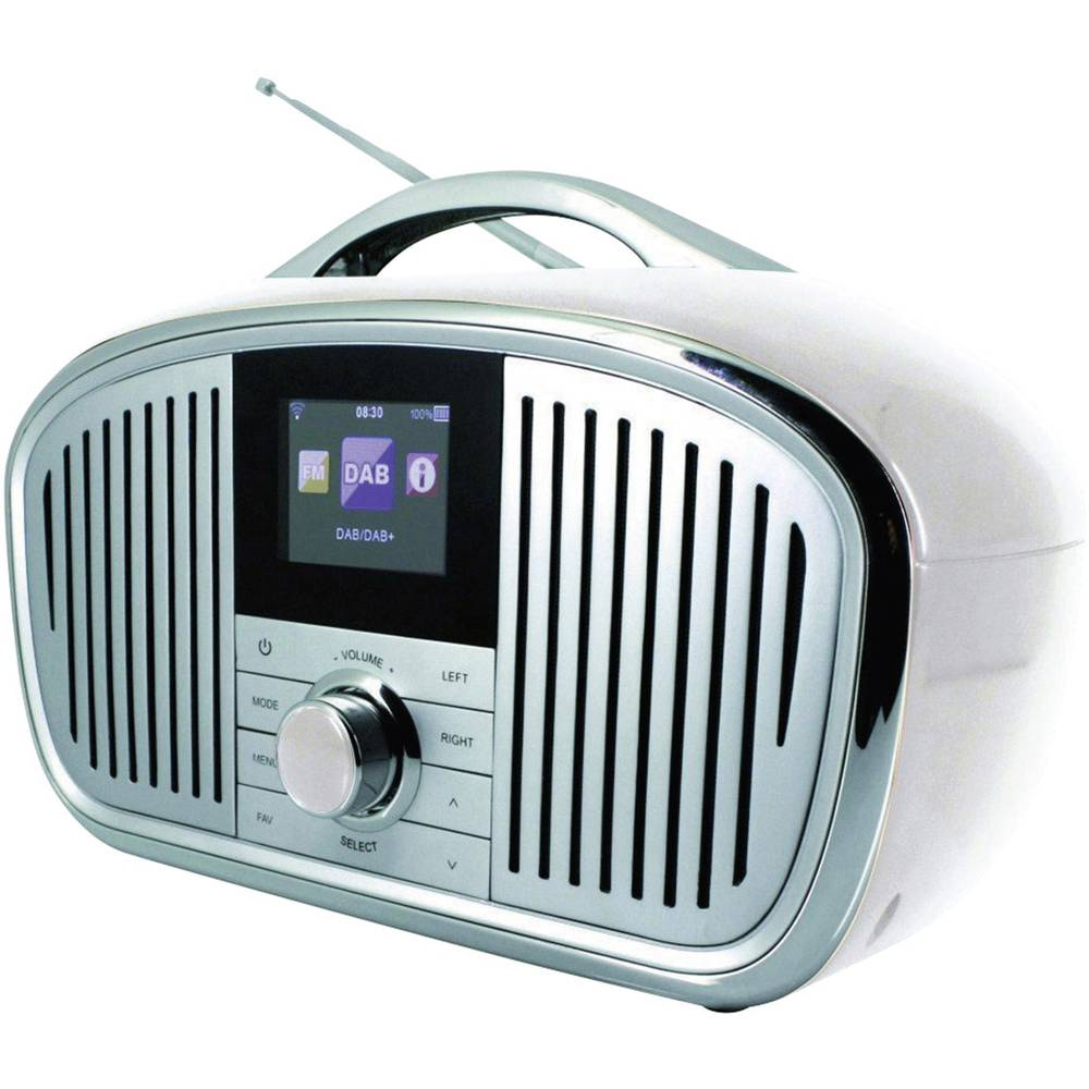 radio internet rechargeable soundmaster ir4000we blanche. Black Bedroom Furniture Sets. Home Design Ideas