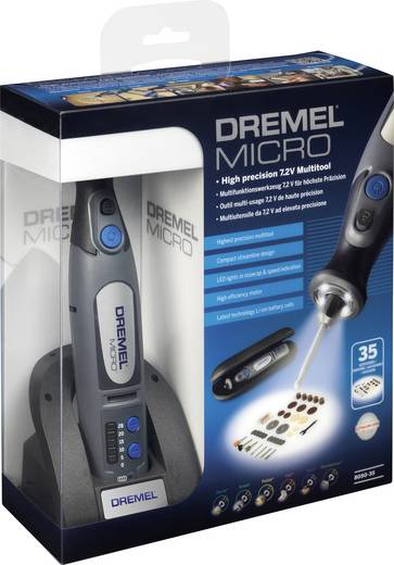 Dremel Micro 8050-35 F0138050JE Akku-Multifunktionswerkzeug inkl. Akku, inkl. Zubehör, inkl. Tasche 37teilig 7.2 V 1 Ah