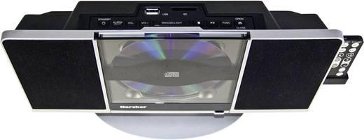 Stereoanlage Karcher MUSIC CENTER MC 6512 AUX, CD, SD, USB, Schwarz, Silber