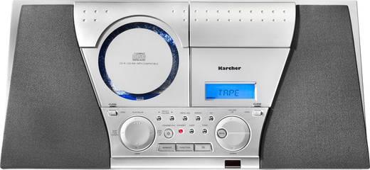 Stereoanlage Karcher MC 6550(N) AUX, CD, Kassette, UKW, Wandmontage Silber