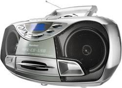 FM CD rádio Karcher RR 510(N), CD, kazeta, FM, USB, stříbrná
