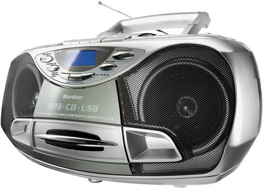 Karcher RR 510(N) UKW CD-Radio CD, Kassette, UKW, USB Silber