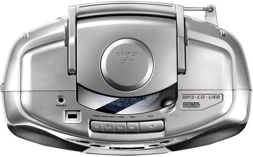 UKW CD-Radio Karcher RR 510(N) CD, Kassette, UKW, USB Silber