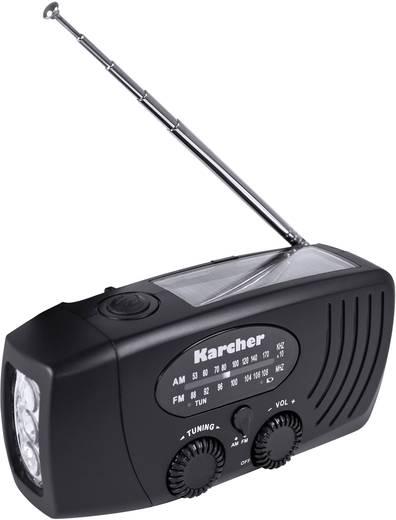 UKW Outdoorradio Karcher KR 110 MW, UKW Akku-Ladefunktion, Taschenlampe Schwarz