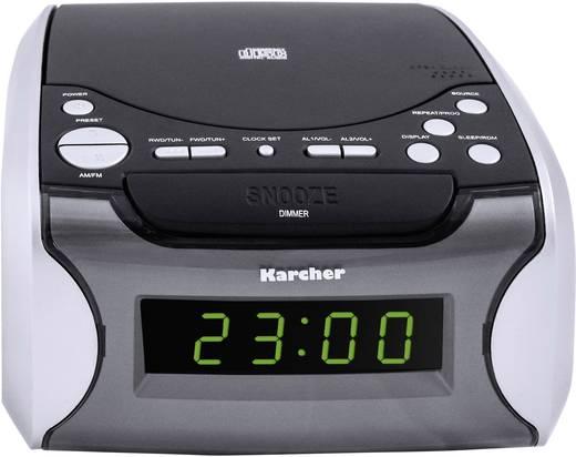 UKW Radiowecker Karcher UR 1306 AUX, CD, MW, UKW Schwarz, Silber
