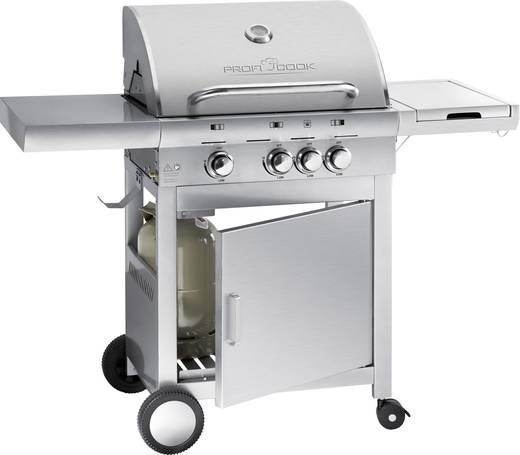 Grillwagen Gas-Grill Profi Cook PC GG1058 mit Kochfunktion Edelstahl