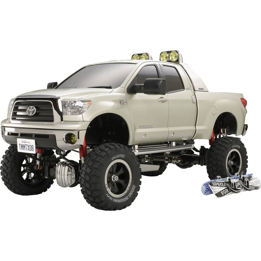 monstertruck lectrique tamiya toyota tundra high lift brushed 4 roues motrices kit monter 1. Black Bedroom Furniture Sets. Home Design Ideas