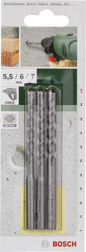 Hartmetall Beton-Spiralbohrer-Set 3teilig Bosch Accessories 2609256909 Gesamtlänge 100 mm SDS-Quick 1 Set