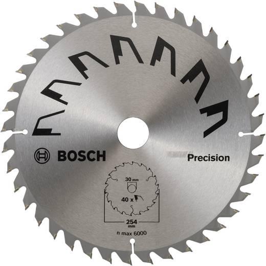 Kreissägeblatt 254 x 30 mm Zähneanzahl: 40 Bosch Accessories Precision 2609256B59 1 St.