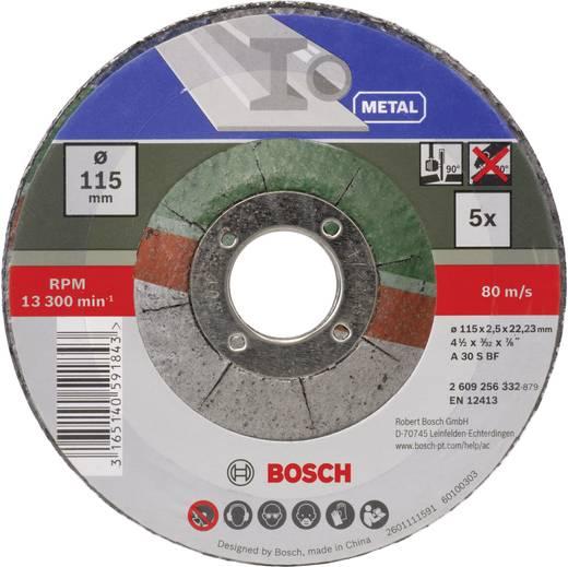 Trennscheibe gekröpft 115 mm 22.23 mm Bosch Accessories A 30 S BF 2609256332 5 St.