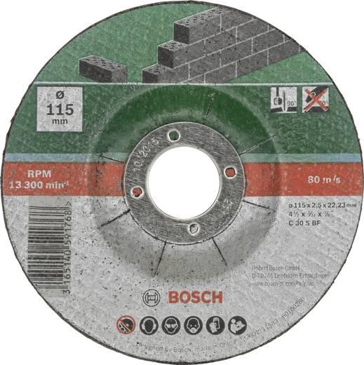 Trennscheibe gekröpft 115 mm 22.23 mm Bosch Accessories C 30 S BF 2609256334 5 St.