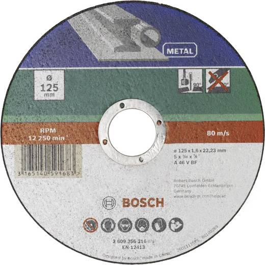 Trennscheibe gerade 125 mm 22.23 mm Bosch Accessories A 46 T BF 2609256316 1 St.