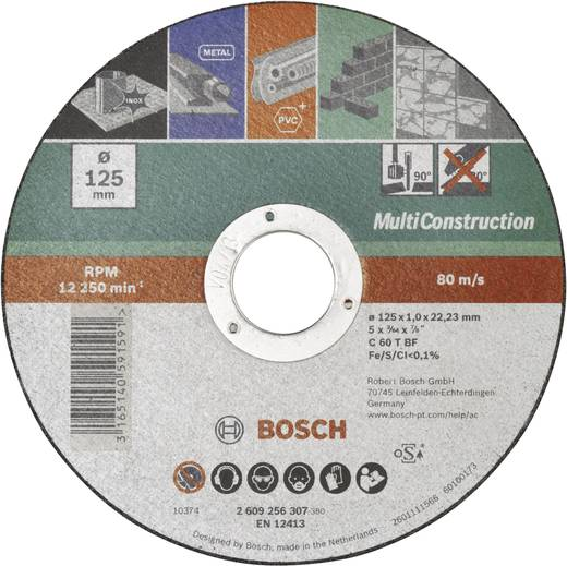 Trennscheibe gerade 125 mm 22.23 mm Bosch Accessories ACS 60 V BF 2609256307 1 St.