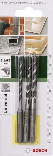 Mehrzweckbohrer-Set 3teilig 5.5 mm, 6 mm, 7 mm Bosch Accessories 2609256919 SDS-Quick 1 Set