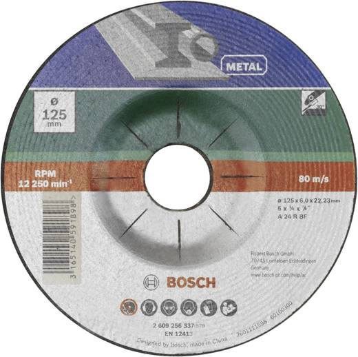 Bosch Accessories 2609256337 Schruppscheibe gekröpft, Metall Ø 125 mm 1 St.