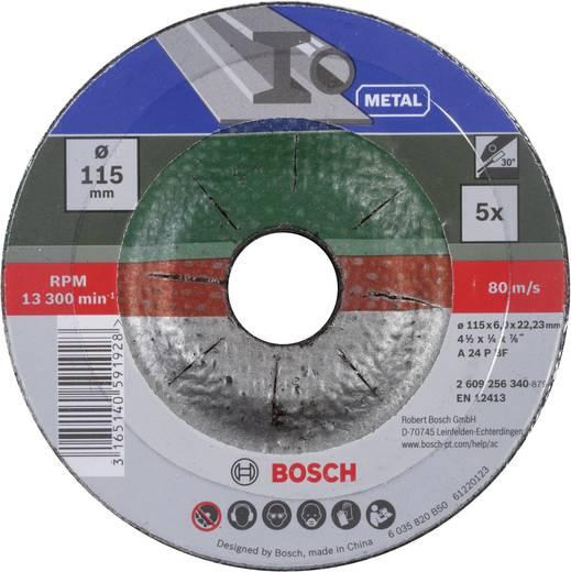 Bosch Accessories 2609256340 Schruppscheiben-Set gekröpft für Metall Ø 115 mm 5 St.