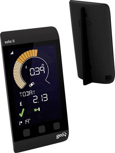 GEO Solo II Display Pack LED Energiekosten-Messgerät Datenloggerfunktion, inkl. externem Display, LCD-Farbdisplay, Strom