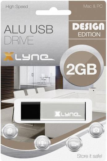 Xlyne ALU USB-Stick 2 GB Aluminium 177554 USB 2.0