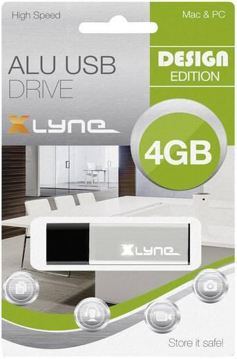 USB-Stick 4 GB Xlyne ALU Aluminium 177555 USB 2.0