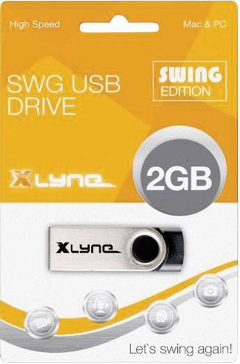 USB-Stick 2 GB Xlyne Swing Schwarz 177558 USB 2.0