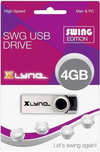 Xlyne Swing USB-Stick 4 GB Schwarz 177559 USB 2.0
