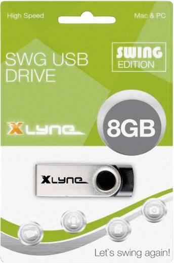 Xlyne Swing USB-Stick 8 GB Schwarz 177560 USB 2.0