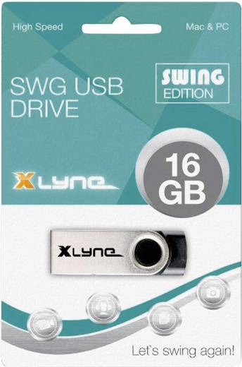 Xlyne Swing USB-Stick 16 GB Schwarz 177562 USB 2.0