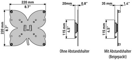 """TV-Wandhalterung 101,6 cm (40"""") Neigbar+Schwenkbar Meliconi S 200"""