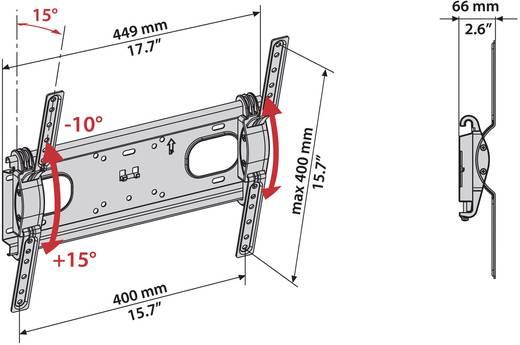 """Meliconi T400 TV-Wandhalterung 127,0 cm (50"""") Neigbar"""