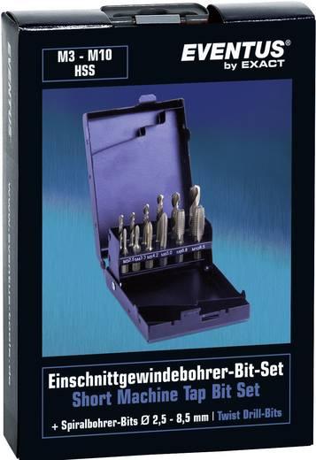 Einschnittgewindebohrer-Set 12teilig metrisch Rechtsschneidend Eventus 70419 HSS 1 Set